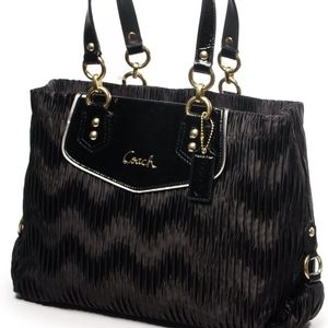 Coach Ashley Gathered Satin Carry All Tote